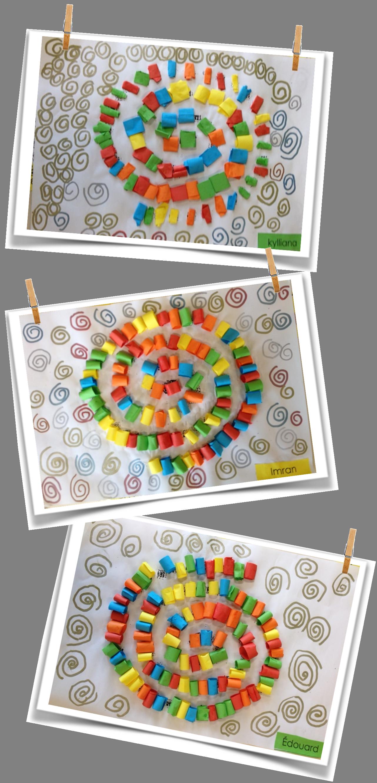Spirales maternelle escargot et cole - Escargot maternelle ...