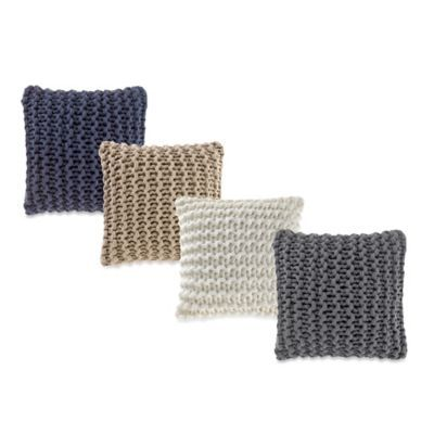 Bed Bath And Beyond Decorative Pillows Prepossessing Buy Kenneth Cole Reaction Home Pearl Knit Throw Pillow In Gunmetal Design Decoration