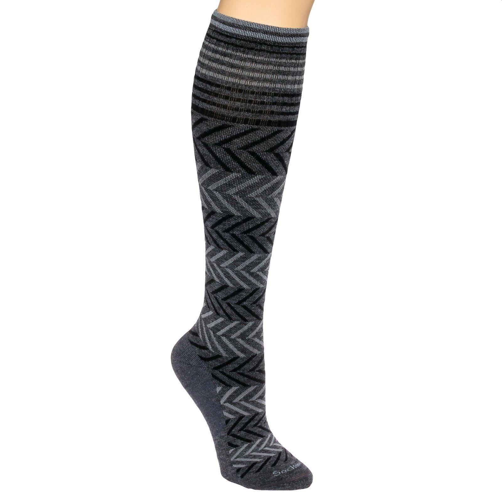 Sockwell Womens Chevron Circulator Compression Socks (Charcoal, M/L)