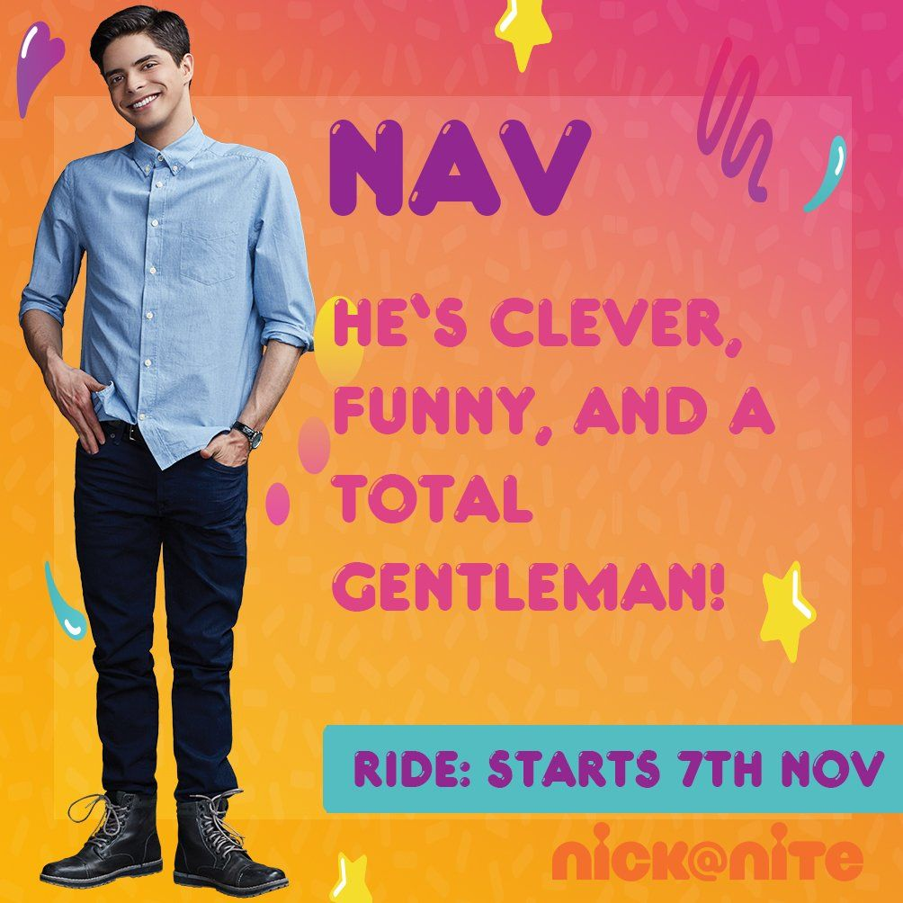 "Nickelodeon UK no Twitter: ""Meet Nav - ummmmmm he's pretty much PERFECT! Start an orderly queue here....  @manubelpa https://t.co/LK3mP8THER"" ."