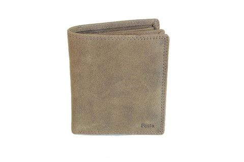 "Leather Trifold Mid Brown Wallet For Mens ""Festa"" H57 – United Split"