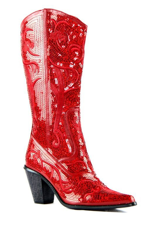 00de91b07e8 Helen s Heart Bling Boots in Red Sequin LB-0290-12