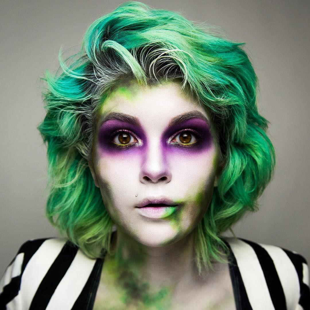 Beetlejuice 💚 halloween makeup Beetlejuice kostüm