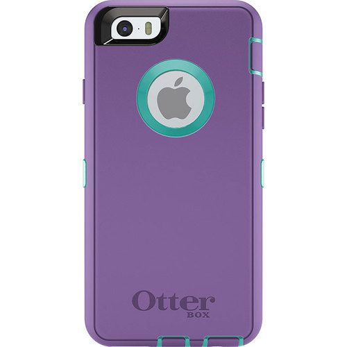 detailed look de325 67f2b NEW iPhone 6 Otterbox Defender Series case Purple with Teal ...