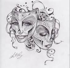 17a0d313a2d3a Image result for happy sad mask | Tattoos | Mask tattoo, Theater ...