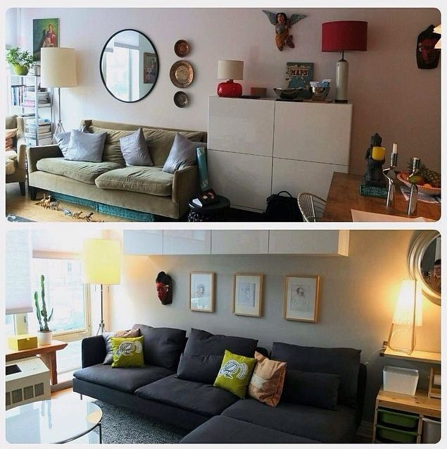 living room makeover before and after ikeahometour