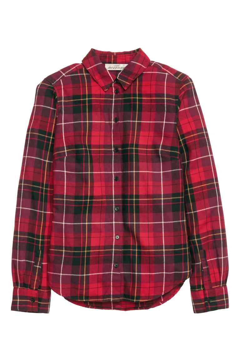 58b42dc3a Camisa de cuadros en franela | Ropa femenina | Camisa de cuadros ...