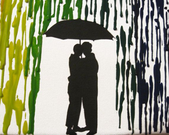 Wedding Gifts For Lesbian Couples: Melted Crayon Art Handmade Original Encaustic Wax Painting