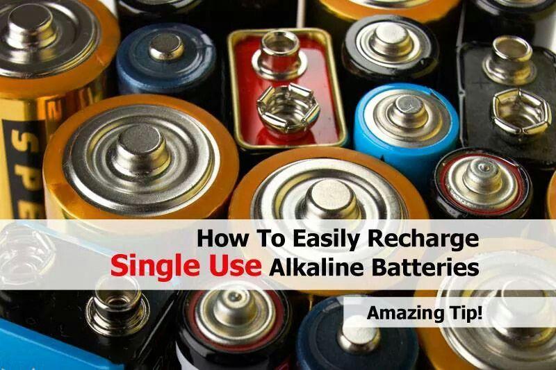 Recharge Singe Use Alkaline Battery Helpful Hints Household Hacks Diy Home Cleaning