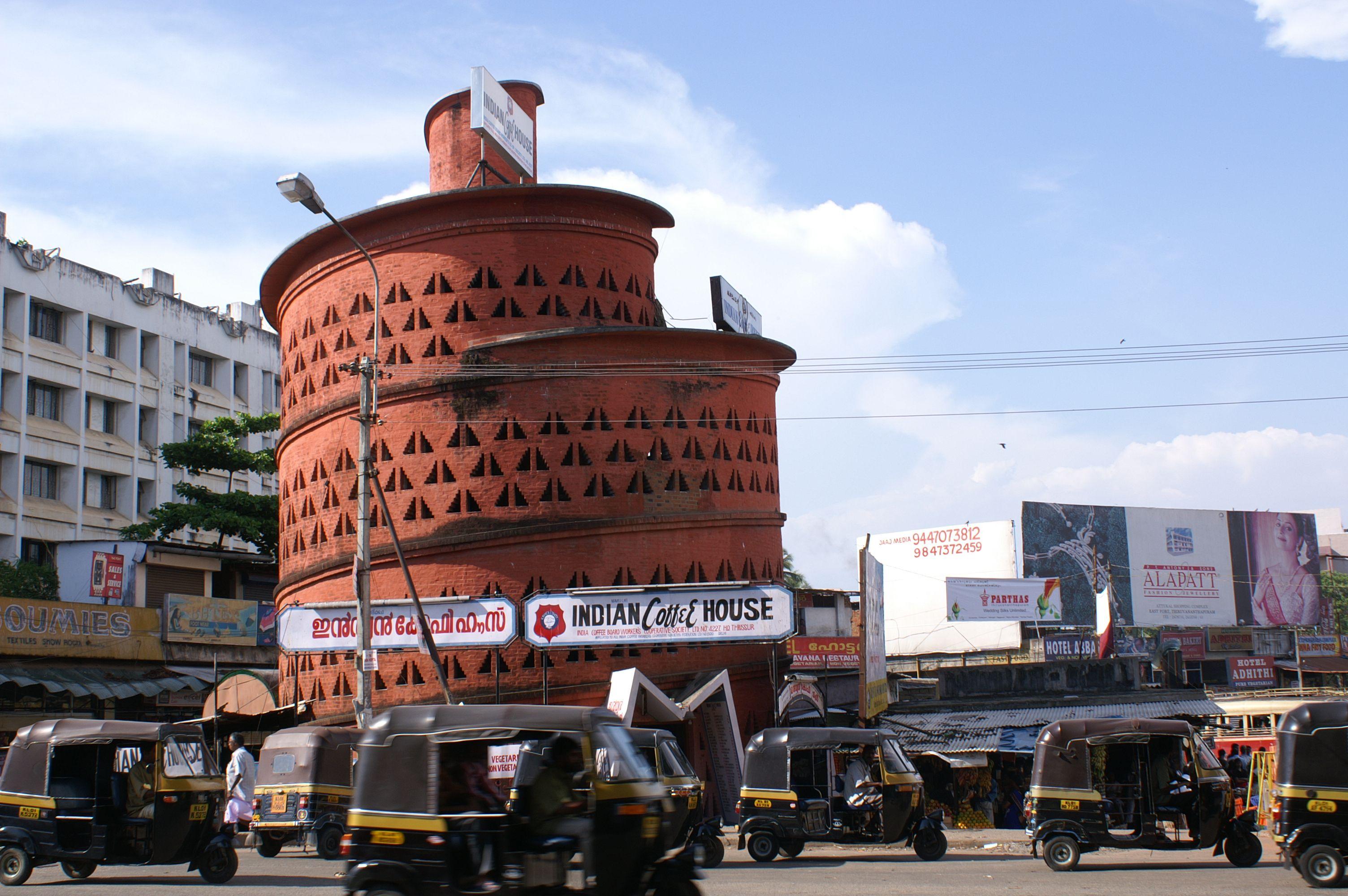 Indian Coffee House Trivandrum Laurie Baker Mit Bildern