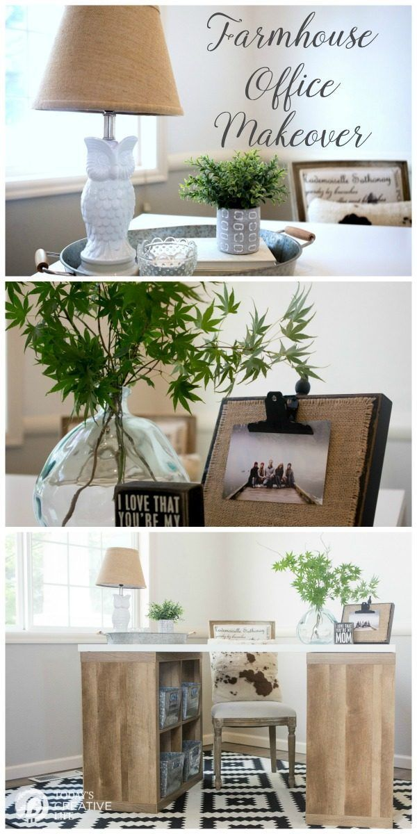 Farmhouse Office, Decor, Office Makeover