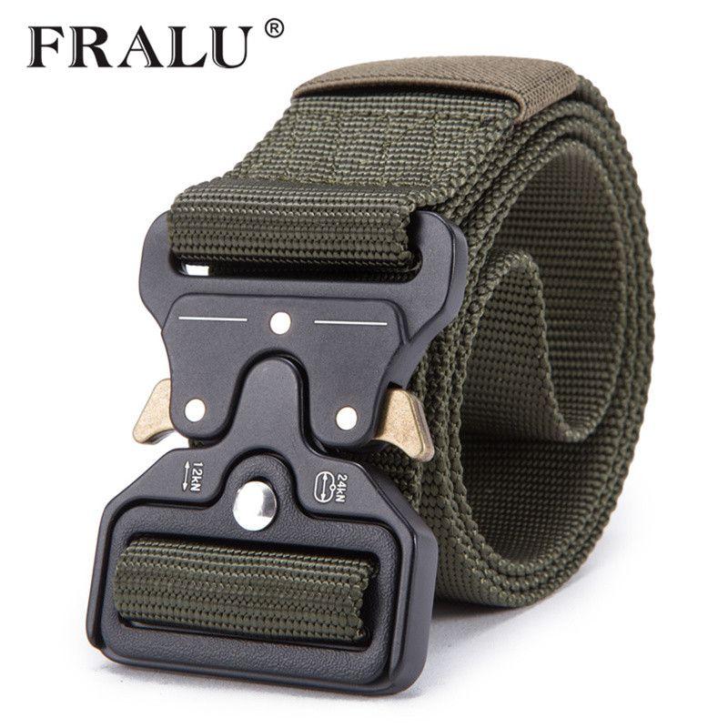 Encontrar Más Cinturones y Fajas Información acerca de FRALU 2018 Mens  calientes cinturón táctico militar cinturón 4df42f72c9d5