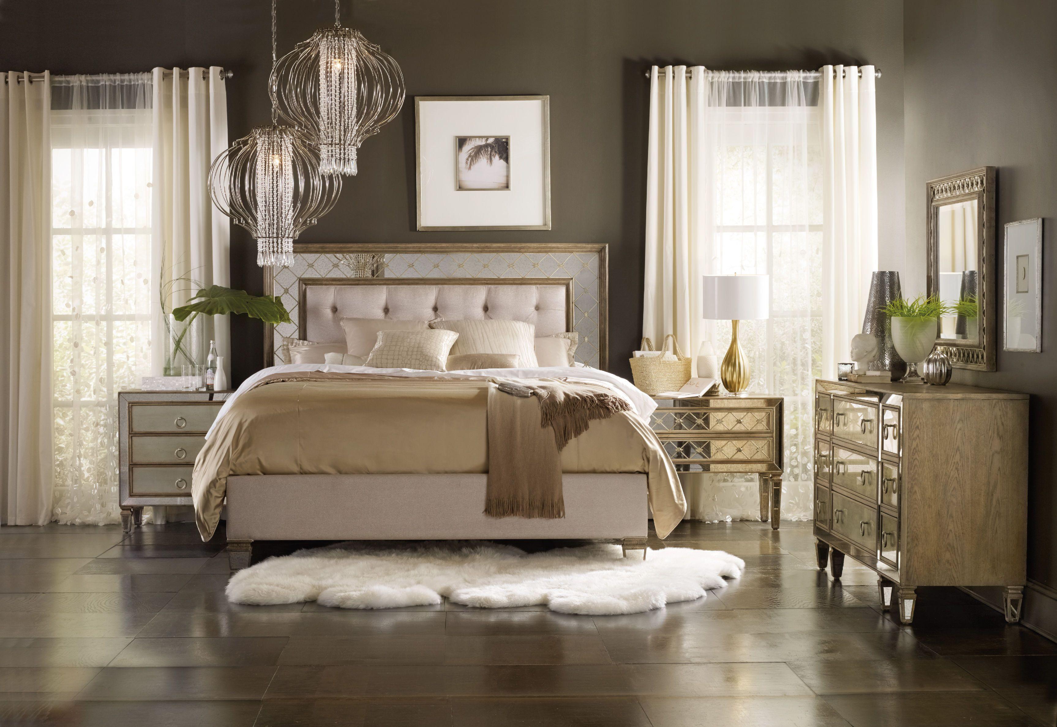 Hooker Furniture Bedroom Sanctuary King Mirrored