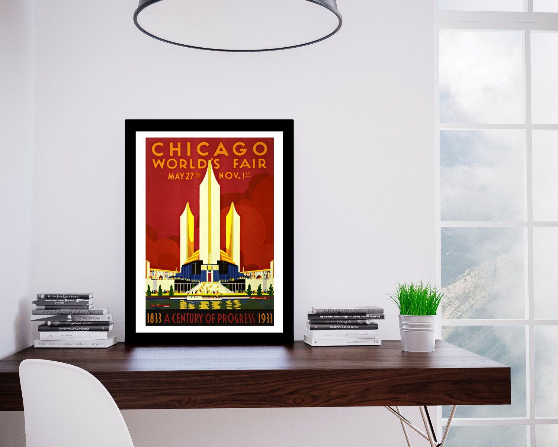 Chicago Travel Poster 1930u0027s Chicago Worldu0027s