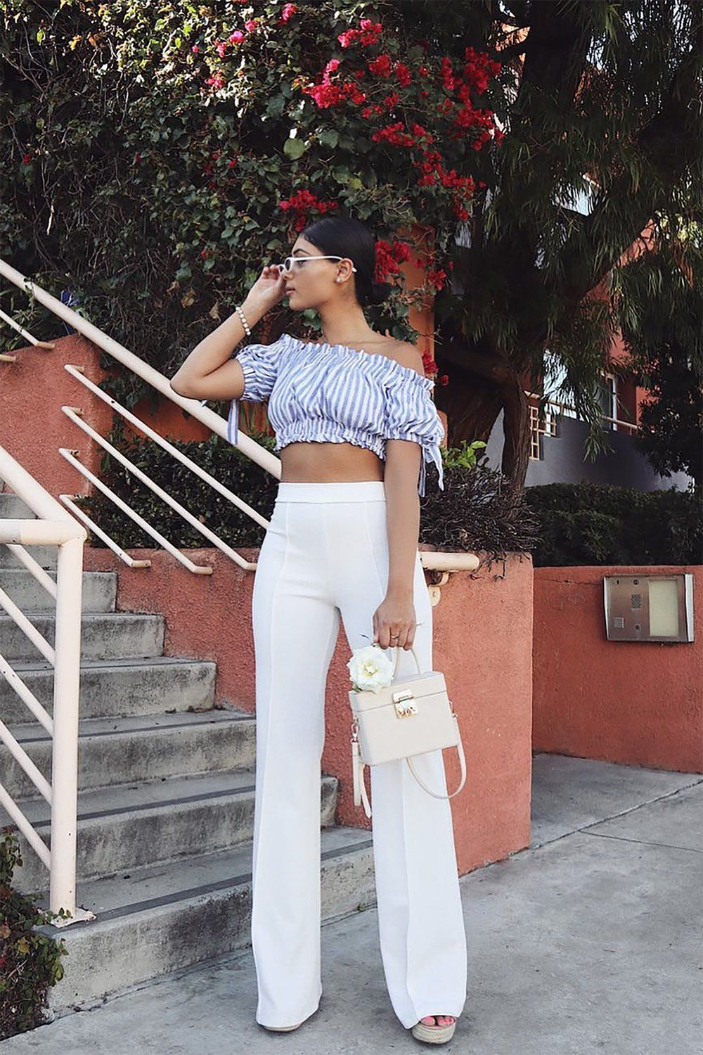 098ce15683cc8 Victoria High Waisted Dress Pants - White in 2019 | My Style | High ...