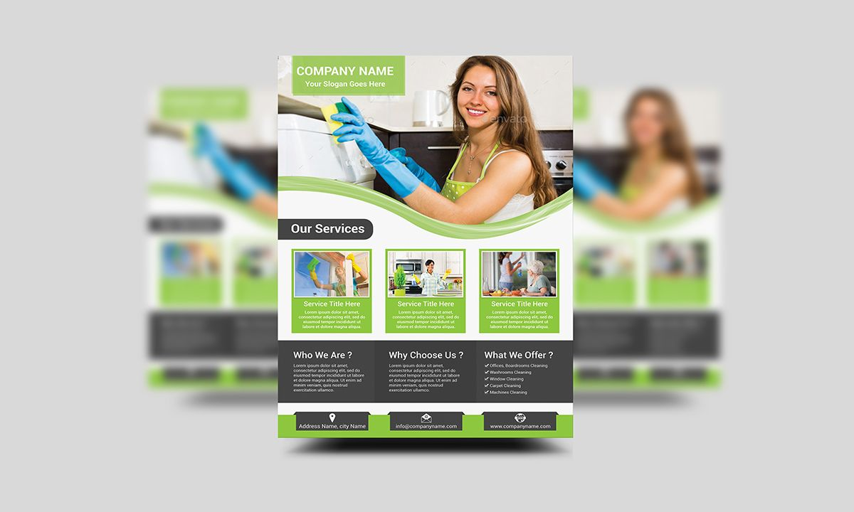 Cleaning Services Flyer Template by Creative Design on