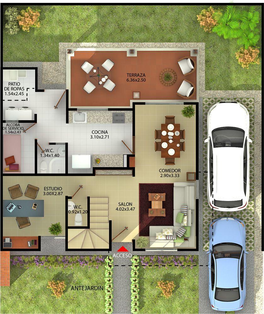Casas Con Terrazas En Segundo Piso