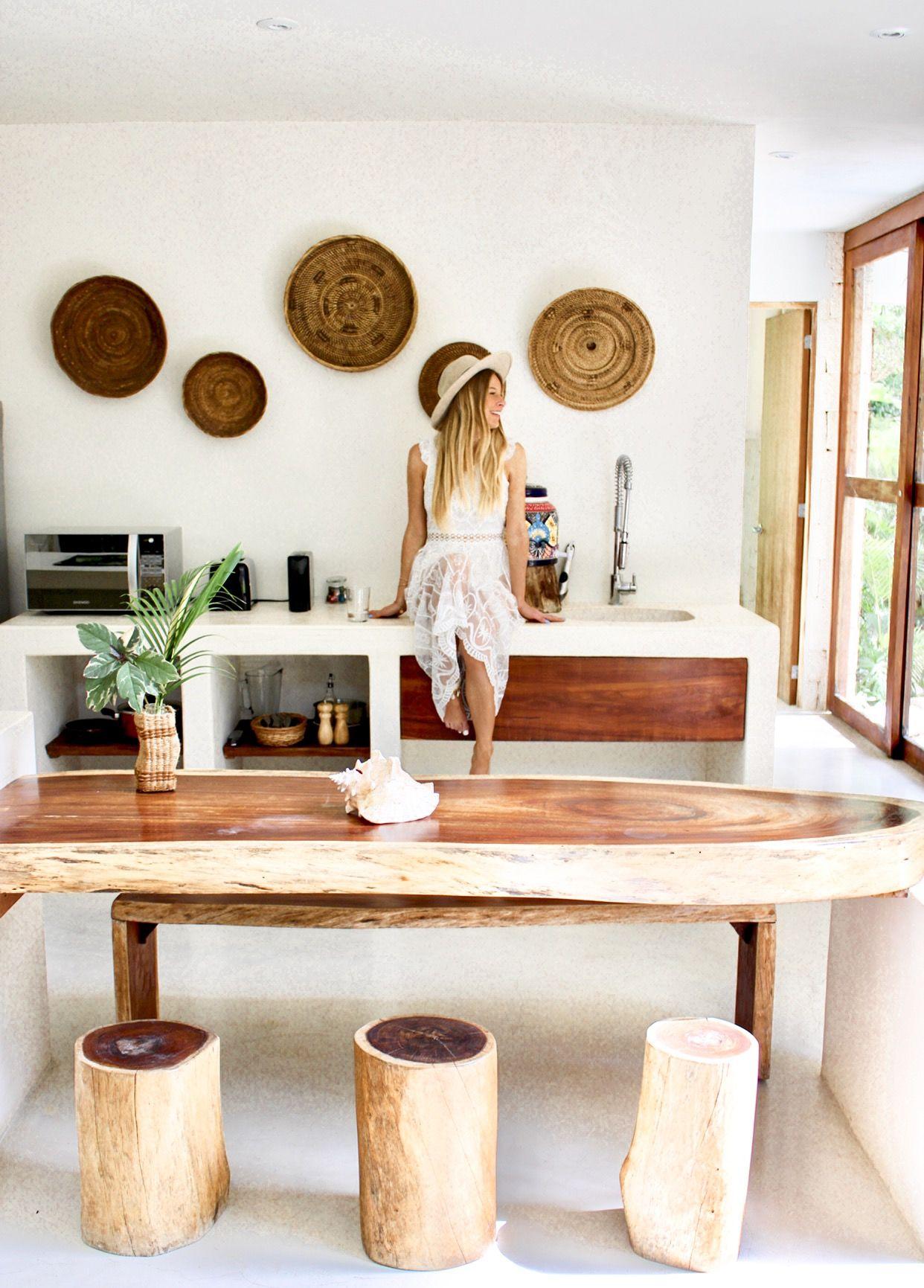 the most magical bohemian style kitchen at una vida tulum tulum tulummexico hotelsandresorts on boho chic kitchen diy id=83529