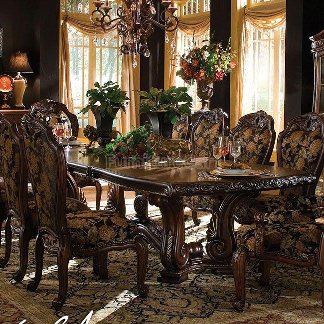 15 Ideas Of Elegant Dining Table Set: Oppulente Rectangular Dining Table