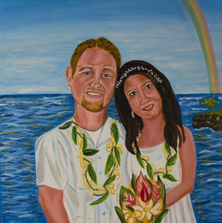 """Beautiful love"" oil on canvas 20""x 20"""