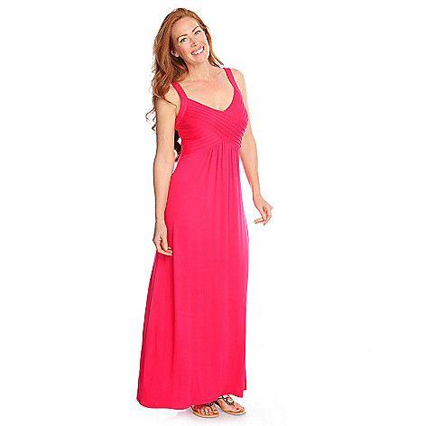 88 Kate Mallory Stretch Knit Sleeveless V Neck Maxi Dress