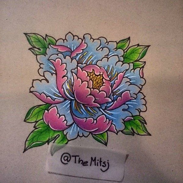 japanese peony flower tattoo designs - Google Search ...