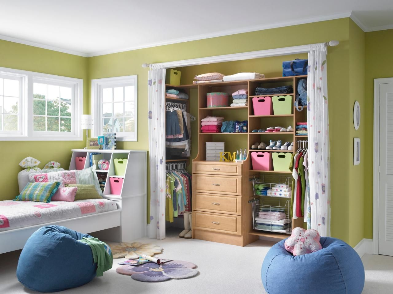 A Closet that Grows with Your Little Girl   Closet doors ...