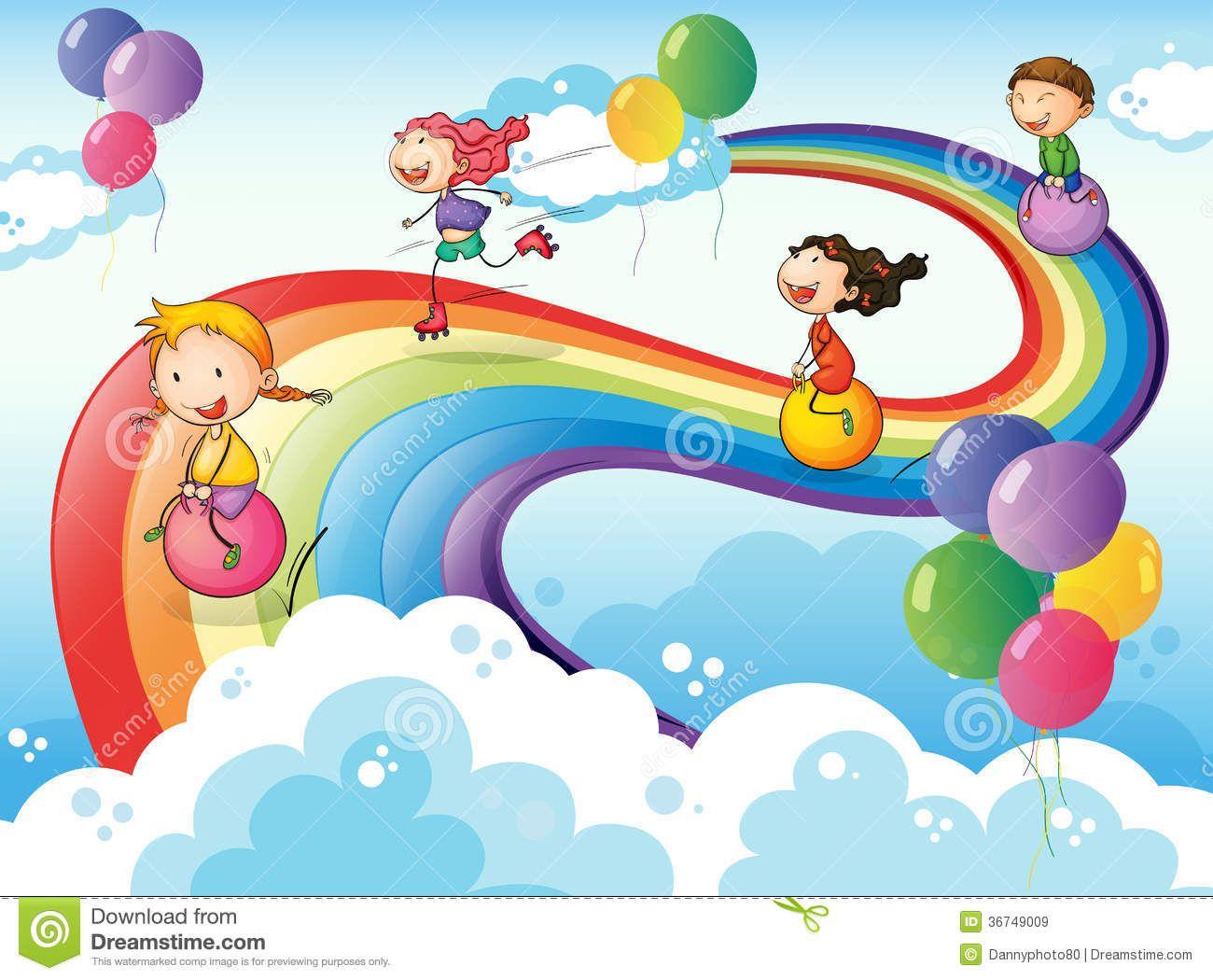 Risultati immagini per disegno di arcobaleno per bambini - Arcobaleno a colori e stampa ...