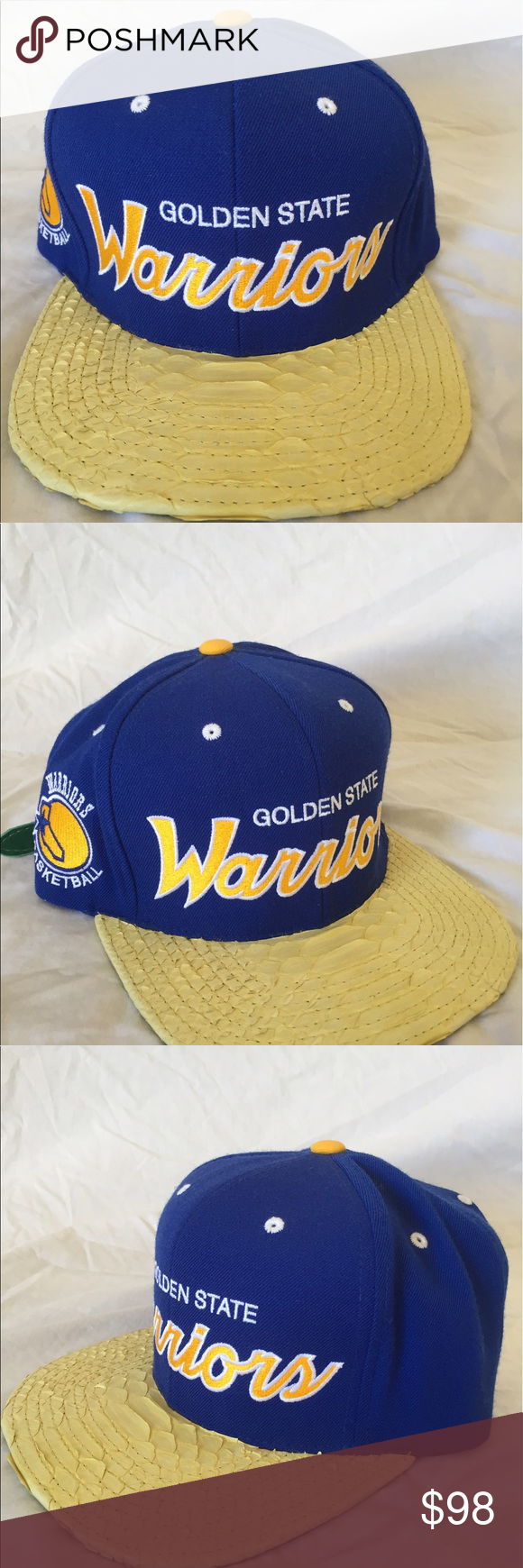Mitchell Ness Golden State Warriors Snakeskin Hat Brand new with tags. 100  % Authentic or bf60c291c08a