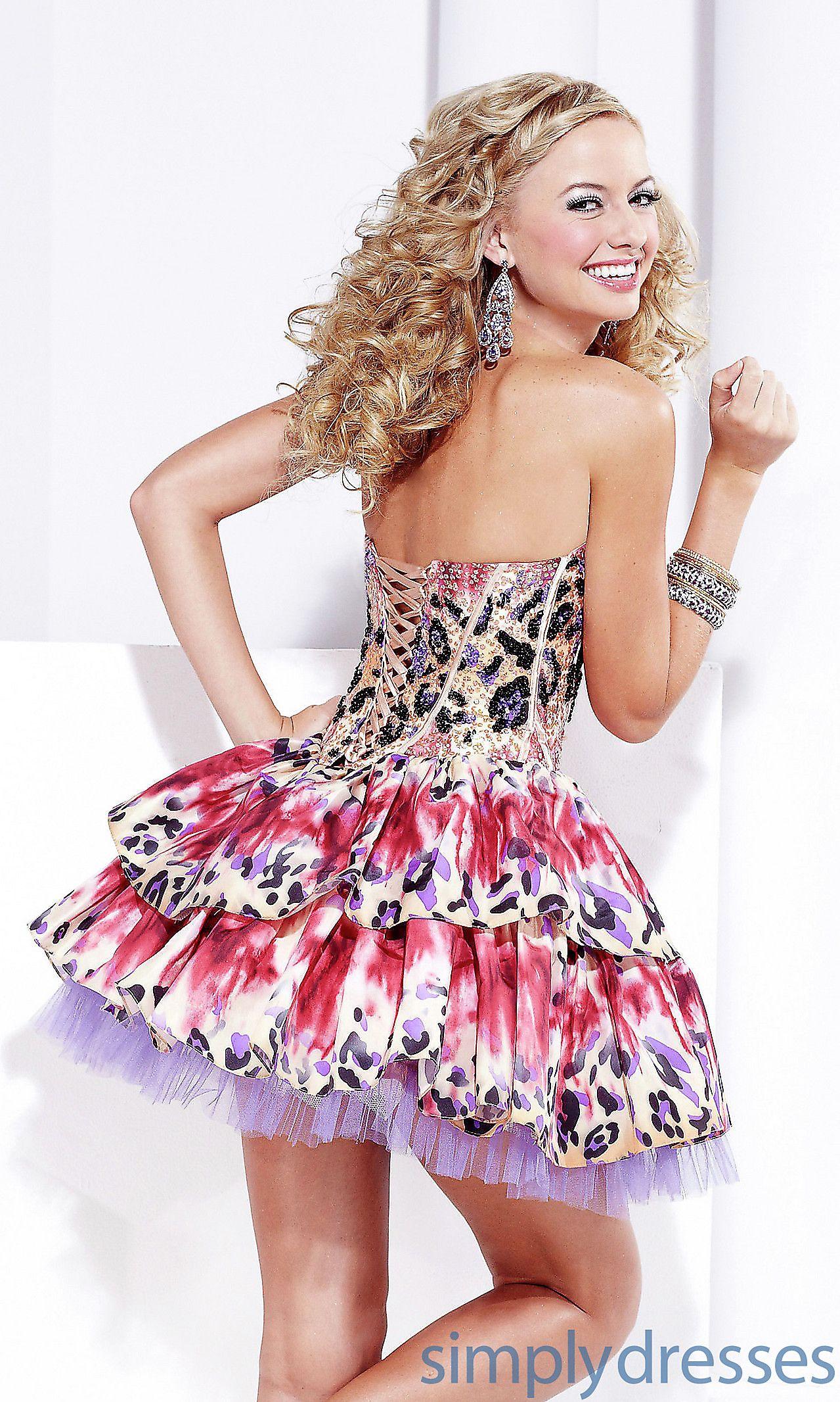 Leopard Print Short Homecoming Dresses