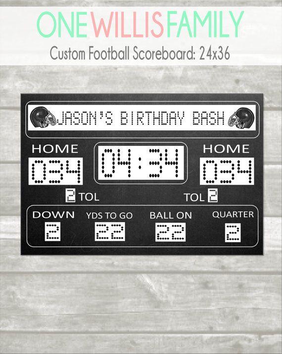 Custom Football Scoreboard X Digital File Only  Texts