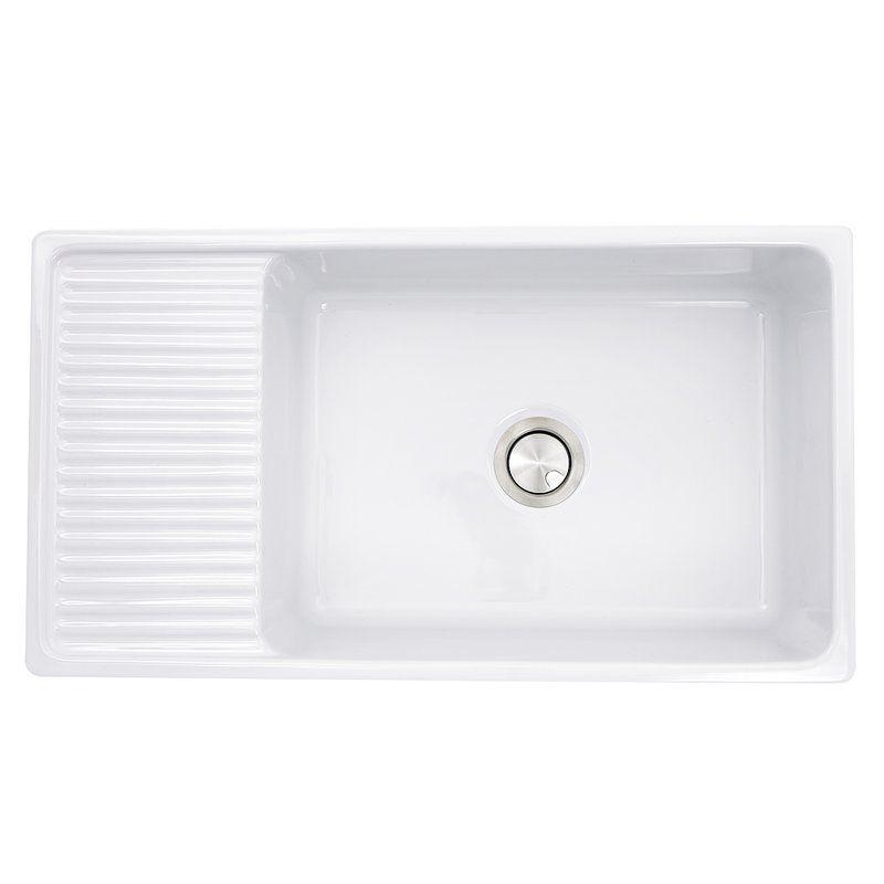 Cape 36 L X 20 W Farmhouse Kitchen Sink With Built In Drainboard In 2020 Farmhouse Sink Kitchen Sink Farmhouse Apron Sink