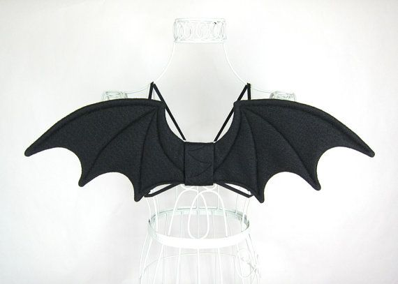 gothic bat wings halloween costume cosplay wire free by snowbella