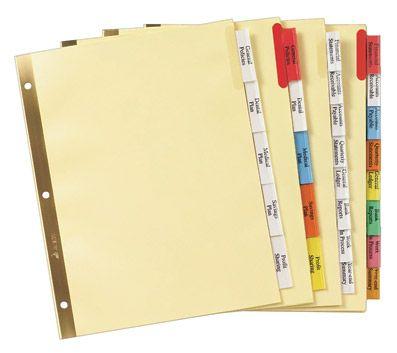 Avery Worksaver Big Tab Insertable Dividers 11111 8 Tab Set Binder Dividers Binder Accessories Divider