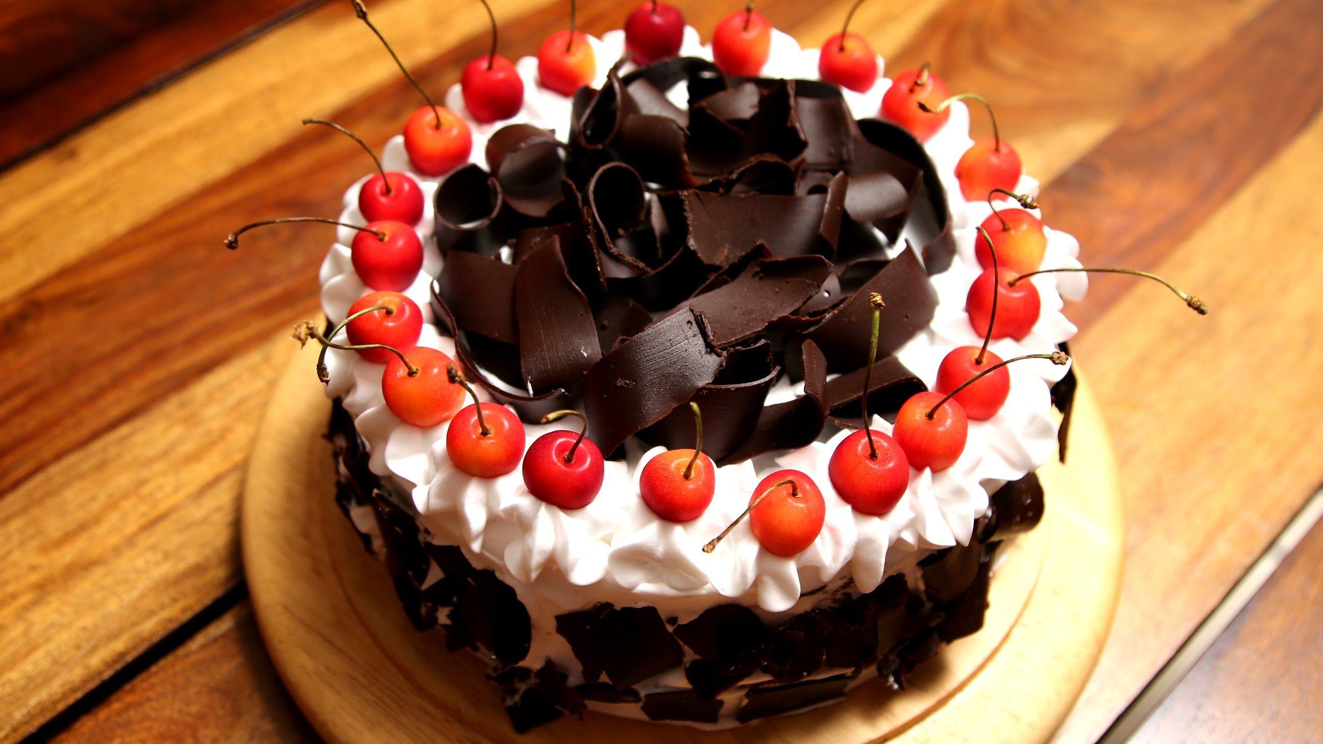 Black Forest Cake Recipe Homemade Eggless Cake Recipe Divine