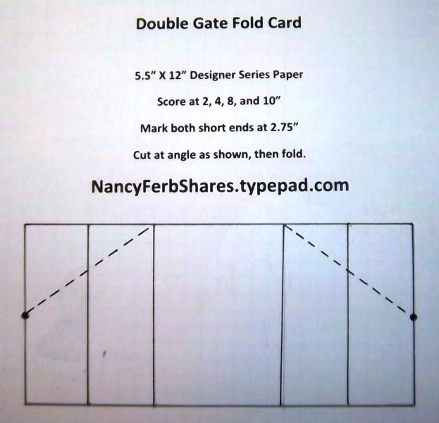 Double Gate Fold by stampur - Cards and Paper Crafts at - double lined paper