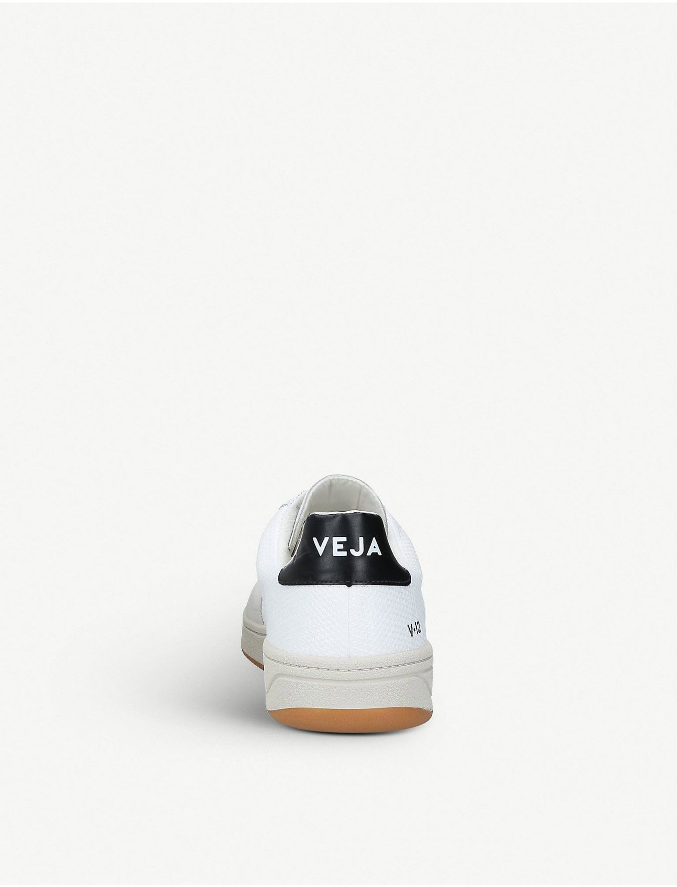 VEJA - V-12 B leather and mesh sneakers