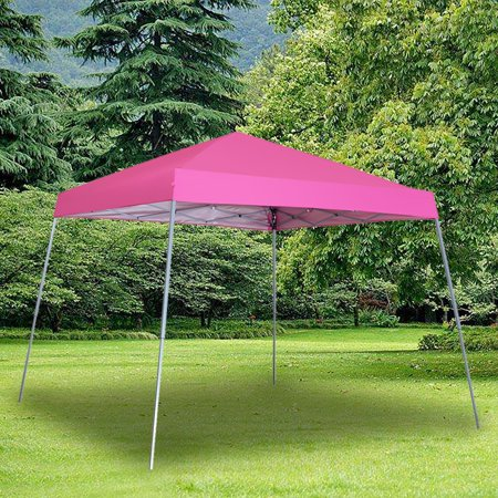8 X 8 Ft Canopies 10x 10 Ft Base Slant Legs Pop Up Canopy Tent For Camping Party Pink Walmart Com Pop Up Canopy Tent Party Tent Canopy Tent