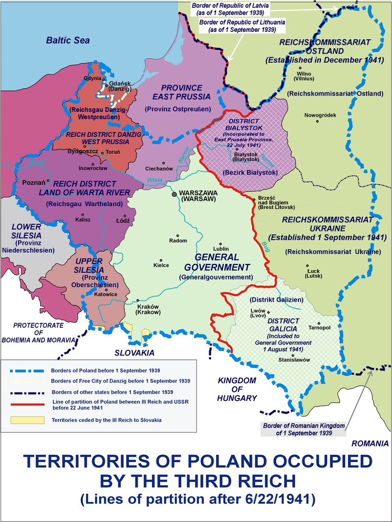 Occupation Of Poland 1941 Changes In Administration Of Polish