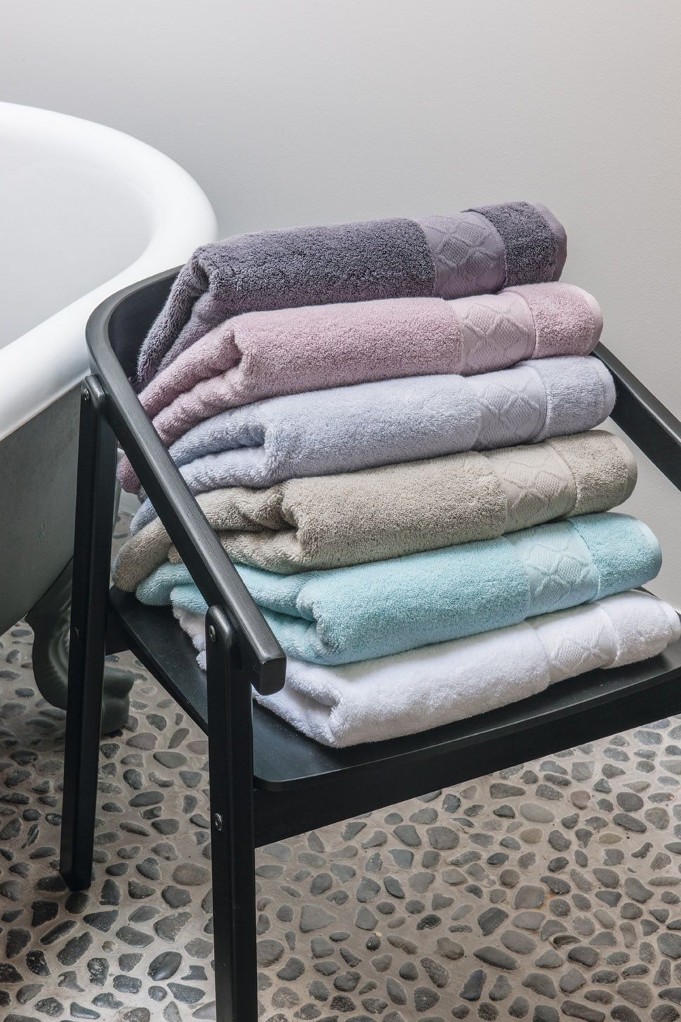 Enhance Your Bathroom With The Caresse Terry Towels Inspired By