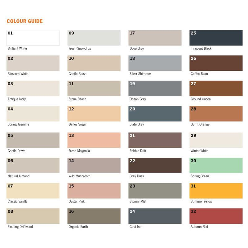 Image Result For Tile Grout Colour Chart