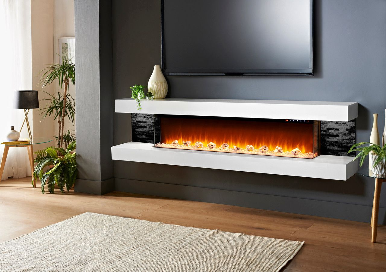 Evolution Fires Vegas 72 Electric Fireplace Wall Mount Electric