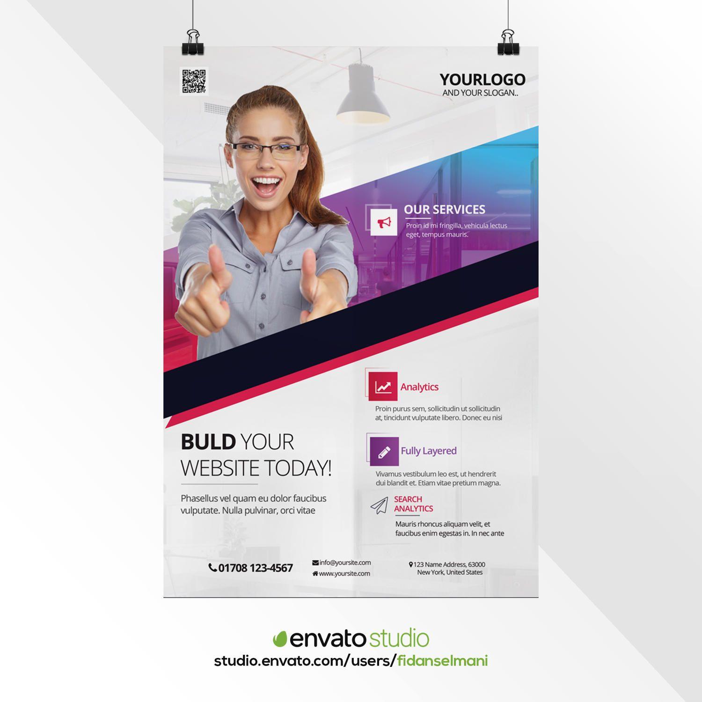 professional corporate poster design by fidanselmani on envato