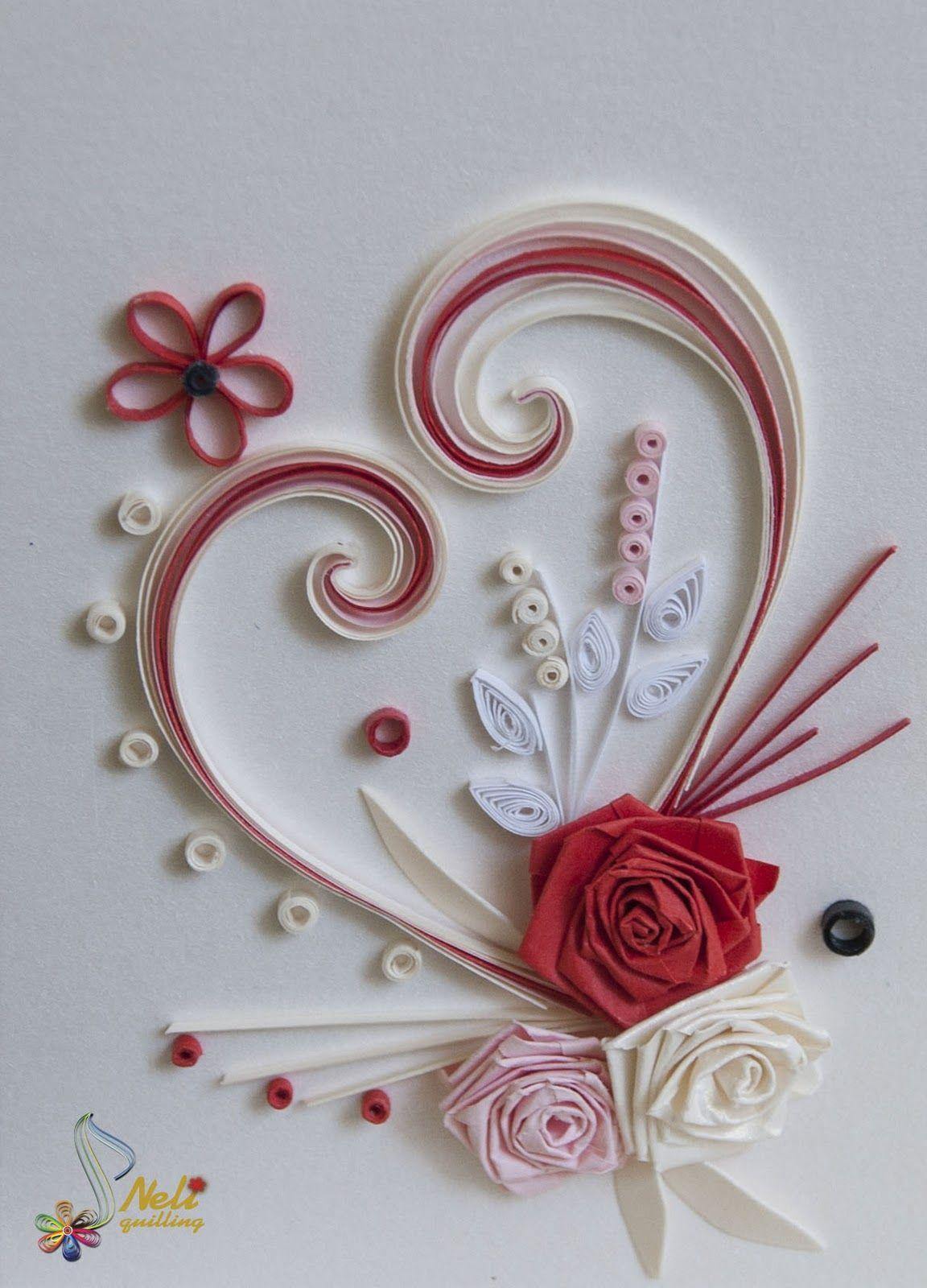 Открытки с квиллинг розами