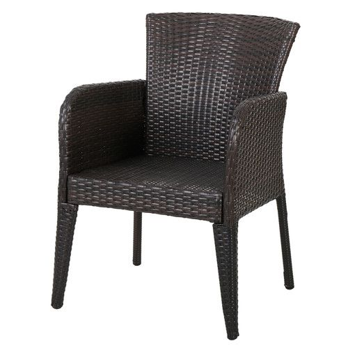 Naples Wicker Arm Chair (Set of 2)