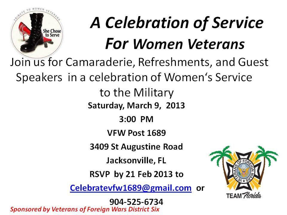 A Celebration of Service For Women Veterans Jacksonville