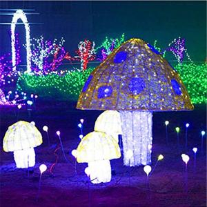 3d Led Light Up Acrylic Mushroom Christmas Decoration In 2020 3d Led Light Led Lights Christmas Decorations