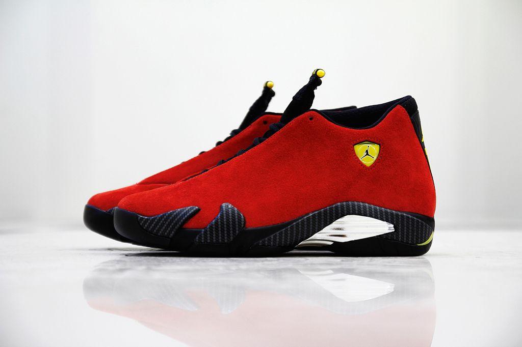 4f5f22dea153e4 Air Jordan 14 Retro Ferrari Detailed Look