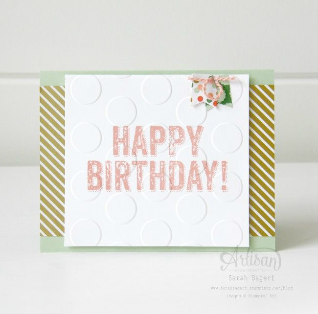 Birthday card using the Birthday Surprise stamp set ~ Sarah Sagert