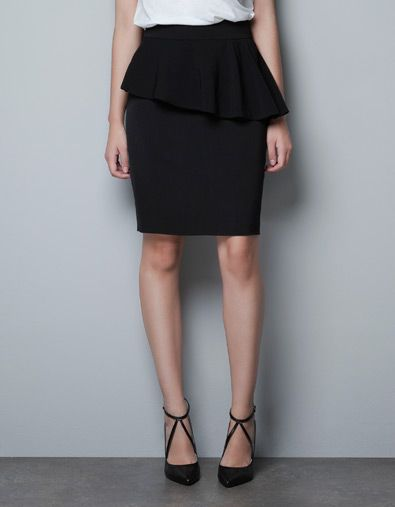 68f4330897e PENCIL SKIRT WITH FRILL AT THE WAIST - Skirts - Woman - ZARA United States